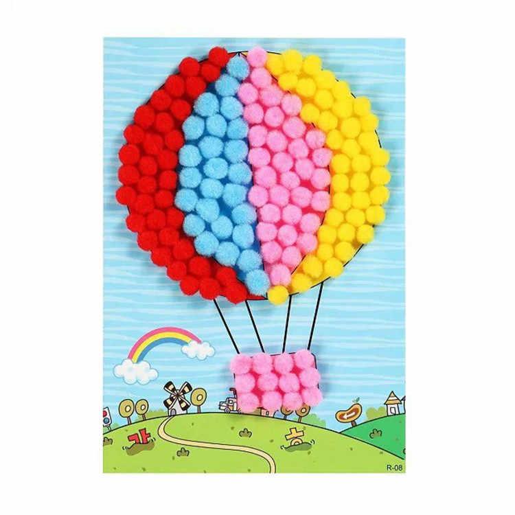 1000 шт., 10 мм, мягкие круглые пушистые Помпоны, шар смешанных цветов, помпоны для детского сада, игрушка Сделай своими руками для детей, мальчиков и девочек