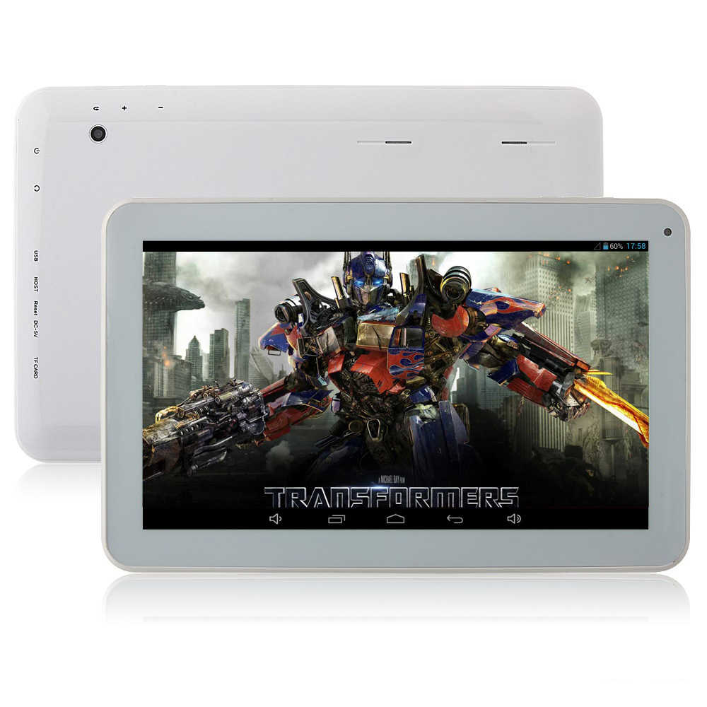 Free shipping Dual Core Allwinner A23 Cortex A8 android 4.2 6500mah 1GB/8GB dual camera bluetooth 10 inch tablet pc  Bundle gift