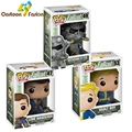 Funko Pop Fallout 4 Vault Boy Lone Wanderer Brotherhood of Steel Game Action Figure PVC Collection Toy 10cm Hot Christmas Gifts