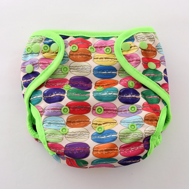 JinoBaby 1.0 Reusable Diapers with 1PCS bamboo insert (Happy Macaron)
