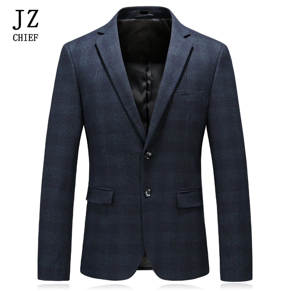 Hot Sale Jz Chief Men Suit Jacket Check Casual Blazer Slim Fit Leisure Business High Quality Fashion Party Blazer Men Clothing 2019 Waterproof, Shock-Resistant And Antimagnetic
