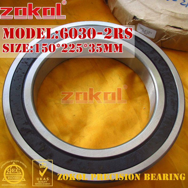 ZOKOL 6030RS bearing 6030 2RS RS 180130 Deep Groove ball bearing 150*225*35mm цена