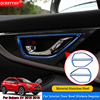 QCBXYYXH Car Styling 4pcs Stainless Steel Car Interior Door Bowl Stickers Sequins Auto Accessories For Subaru