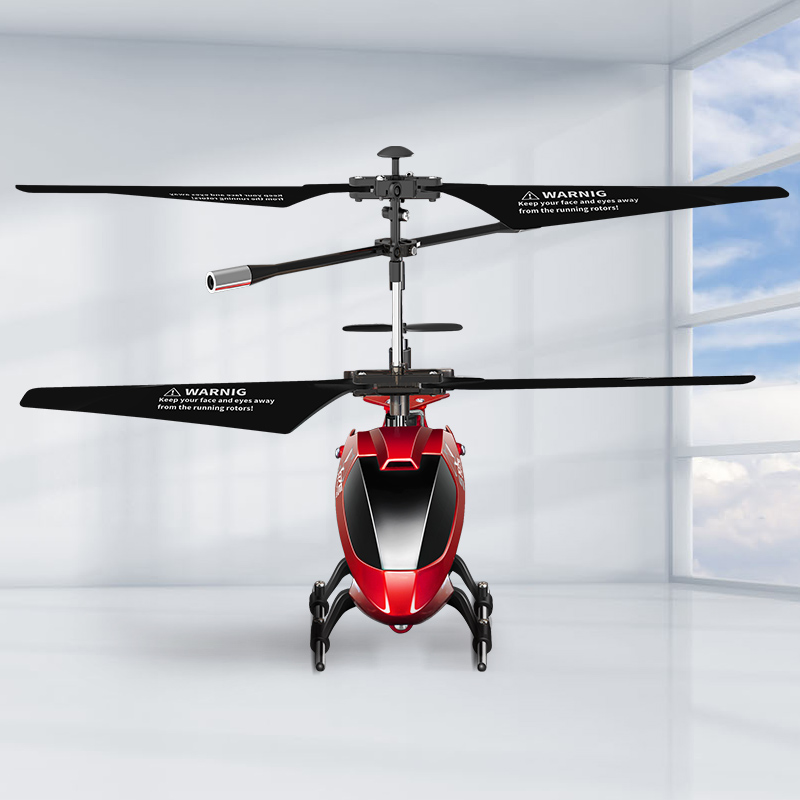 Image 2 - SYMA S107H RC helicopter Remote Control 3.5ch Kid hobbies mini RC flying toy with Gyro for Indoor Play Kids one key fly plane-in RC Helicopters from Toys & Hobbies