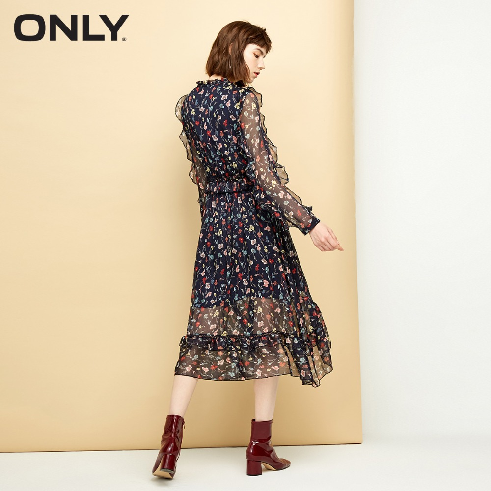 ONLY Women 39 s Ruffled Elasticized Waist Dress 118307585 in Dresses from Women 39 s Clothing