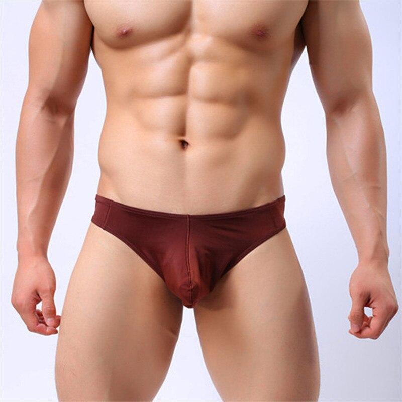 Factory direct ultra-thin panties gay ice silk thong mens underwear mens ice silk briefs best price