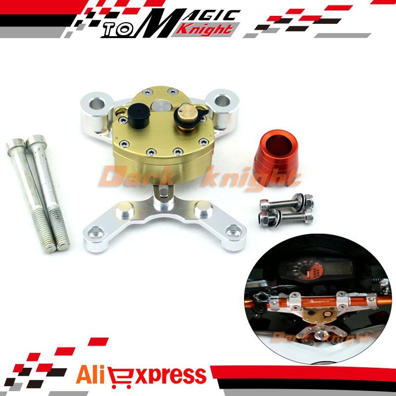 For KTM 690 DUKE 2012 2013 2014 2015 Motorcycle Accessories Steering Damper Stabilizer with Mounting Bracket Kit