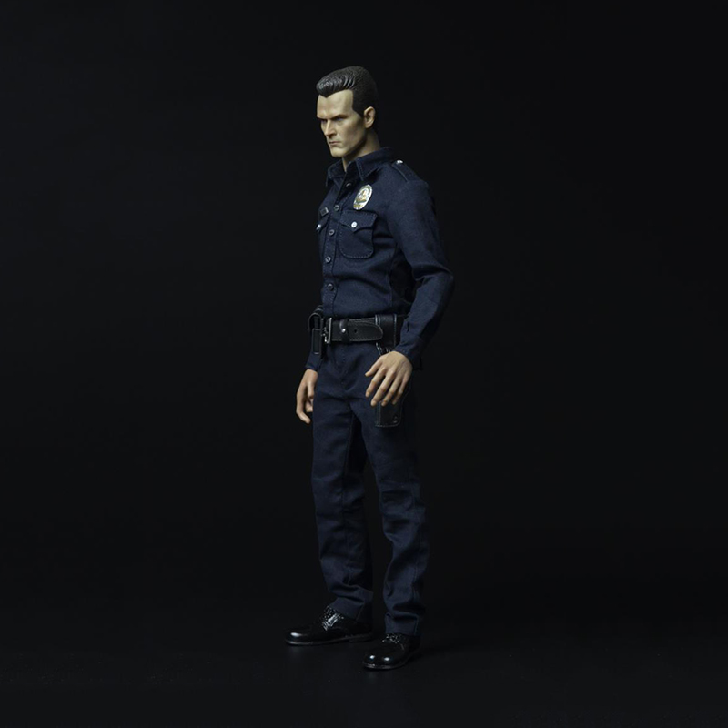 Hot Sale 1/6 Male Clothing Terminator T1000 Villain Police Suit Set Model Toys For 12