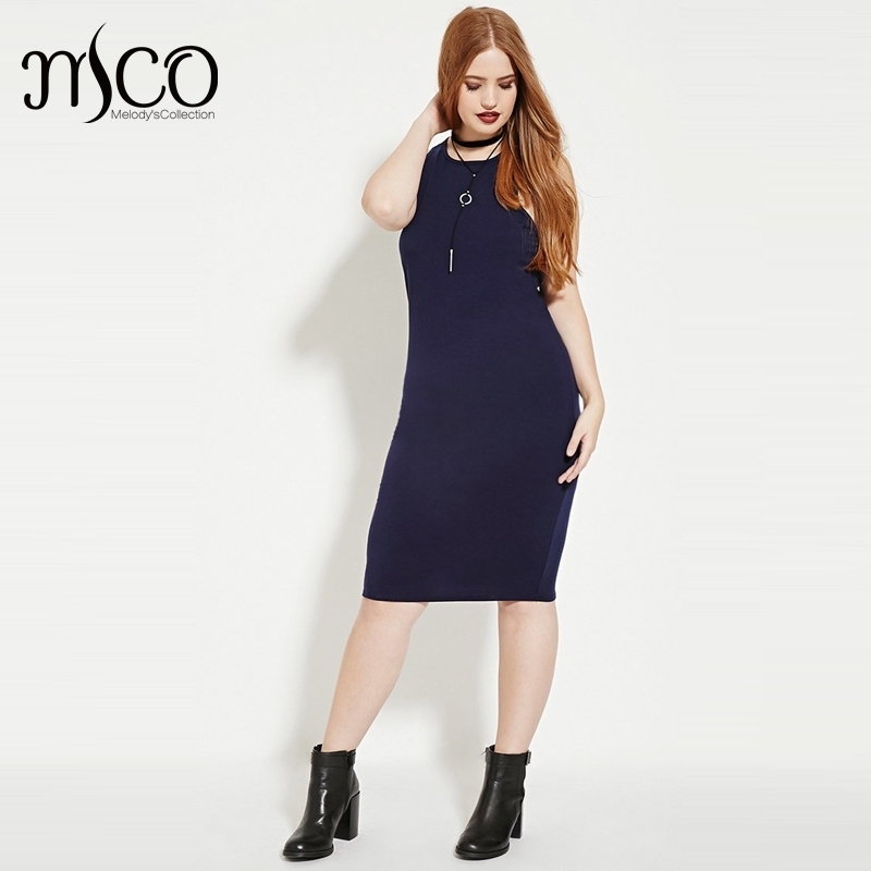 Sexy Basic Summer Sleeveless Slim Fit Tank Midi Dress ...