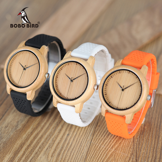 BOBO BIRD Women Watches Ladies' Luxury Bamboo Wood Timepieces Silicone Straps relojes mujer marca de lujo Great Gifts for Girls 3
