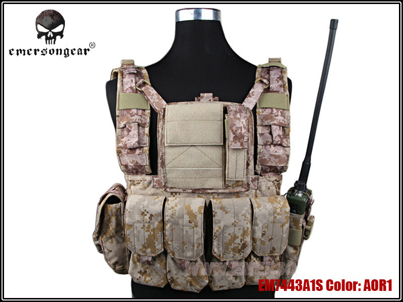 Emerson RRV Tactical Vest with Pouches Set Hunting Airsoft Paintball Military Army Combat Gear Durable Molle Vests EM7443 AOR1 ^