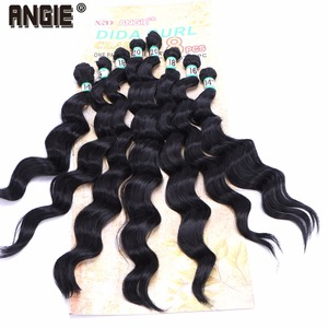 """Image 4 - 14"""" 16"""" 18"""" 20"""" Synthetic  Wavy curly Hair Weave Bundles  8pcs/Lot Synthetic Hair Extensions for women"""