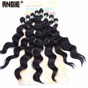 """Image 4 - 14 """"16"""" 18 """"20"""" סינטטי גלי מתולתל שיער Weave חבילות 8 יח\חבילה סינתטיות עבור נשים"""