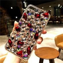 Para xiaomi 8 9 lite se max 2 redmi4a 6a 8a note5 5a 7 6 8 pro luxo glitter capa traseira cristal bling strass caso de telefone macio