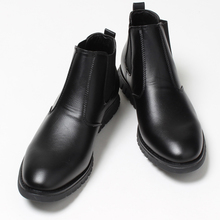 ZFTL New Men ankle boots Chelsea Boots Men's casual single shoes business high to help shoes tide male British Martin boots  087