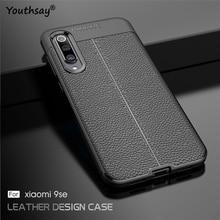 For Cover Xiaomi Mi 9 SE Case Luxury Leather Silicone Fundas 5.97