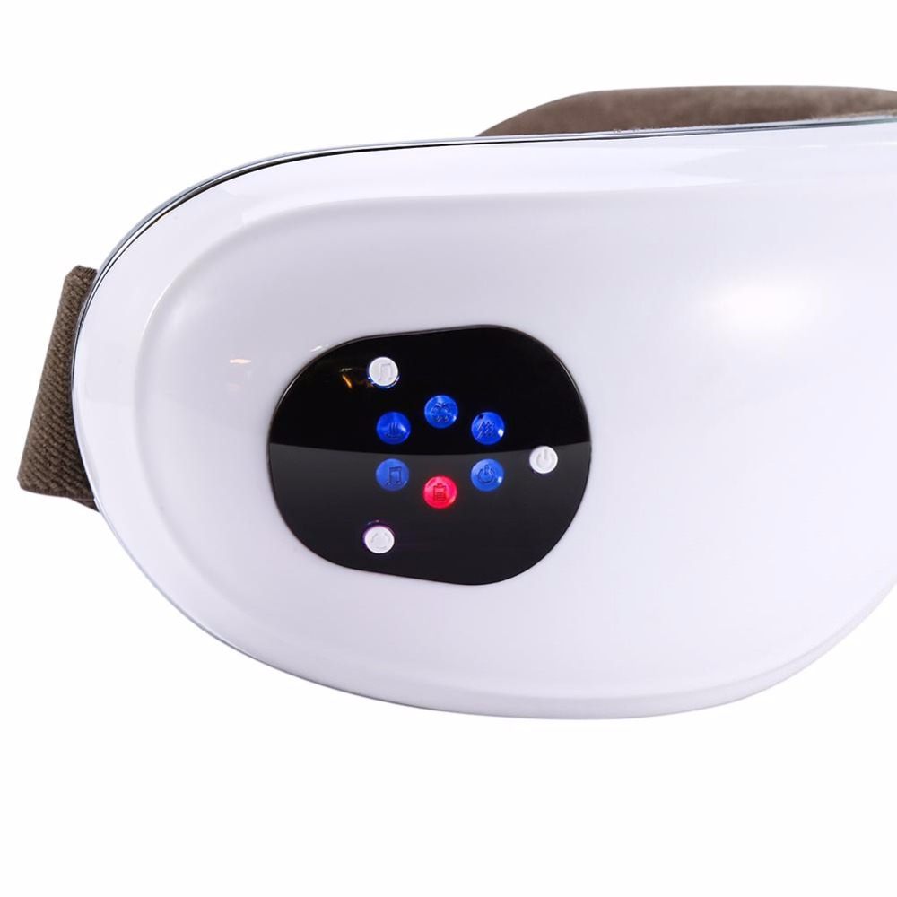 Electric Eyes Massager Far-infrared Heating Air Pressure Music Eye Shiatsu Massage Fatigue Head Stress Relief Eyes Care Relax