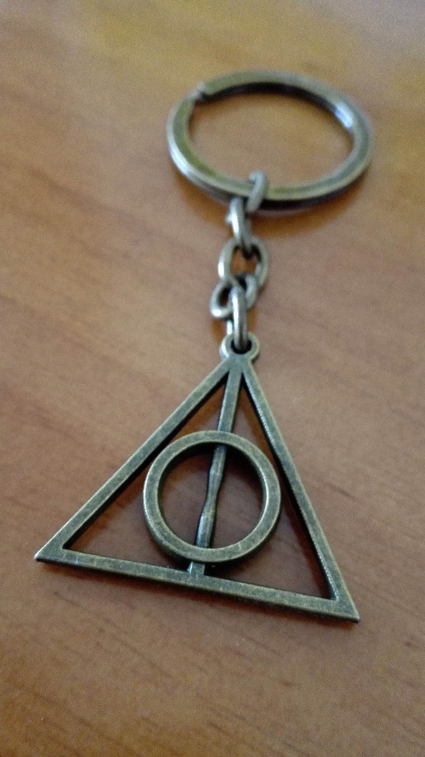 The Deathly Hallows Key Buckle Charm Antique Bronze Accessory Key Chain / Ring