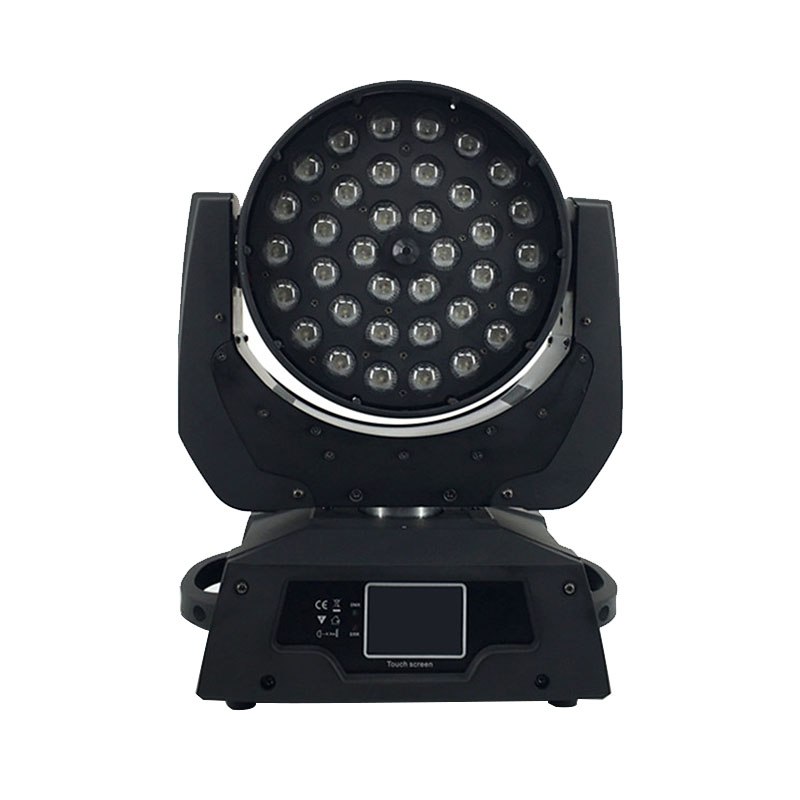 LED Moving Head Wash Light LED Zoom Wash 36x18W RGBWA+UV Color DMX Stage Moving Heads Wash Touch Screen