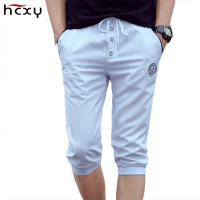 HCXY 2017 New Men Shorts Brand Summer Pants Casual Harlan Pant Men S High Quality Stripe