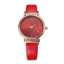 лучшая цена Manufacturer Direct Hot Simple Leisure Belt Watch Women Rhinestones with Ms Quartz Wrist Watch