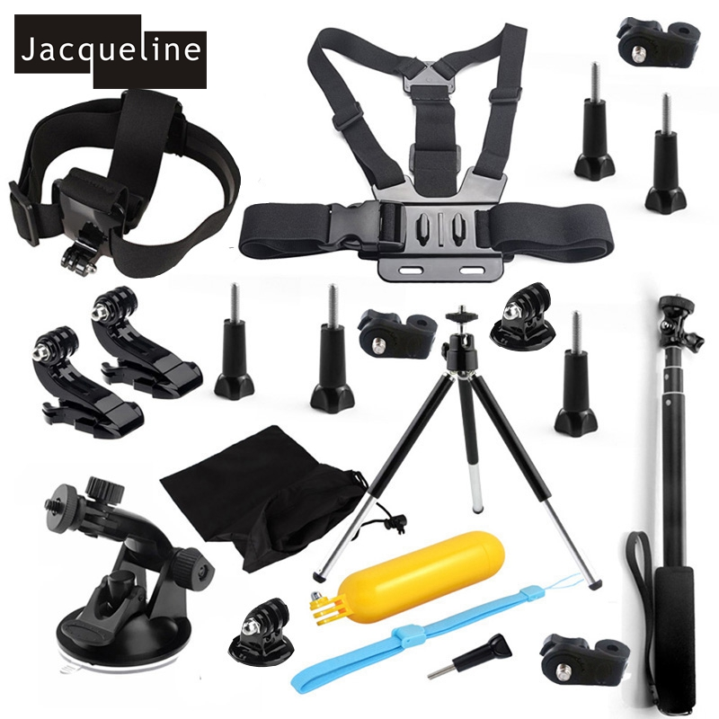 Jacqueline for Set Kit Accessories for Sony Action Cam HDR AS200V AS30V AS100V AS20 AZ1 mini FDR-X1000V/W 4 k for Yi action cam