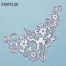 PANFELOU Cradle flower butterfly metal crafts paper die cutting dies for Scrapbooking/DIY wedding Halloween Hand account cards(China)