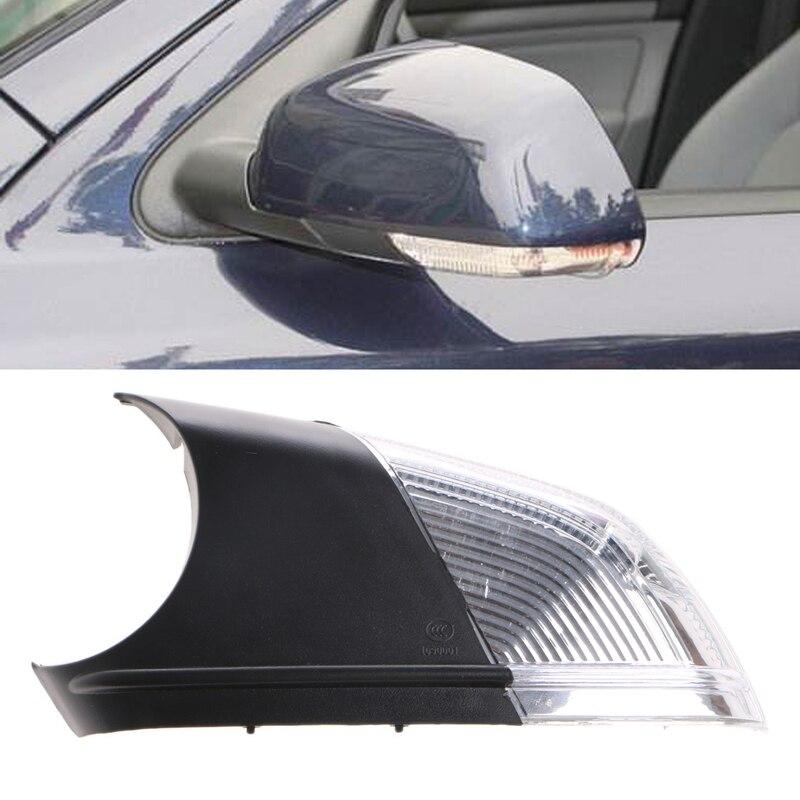 Left Right Swing Car LED Mirror Indicator Turn Signal Light For Polo Skoda Octavia Amber Auto Lamp 3000K Car DRL Bulbs 2017