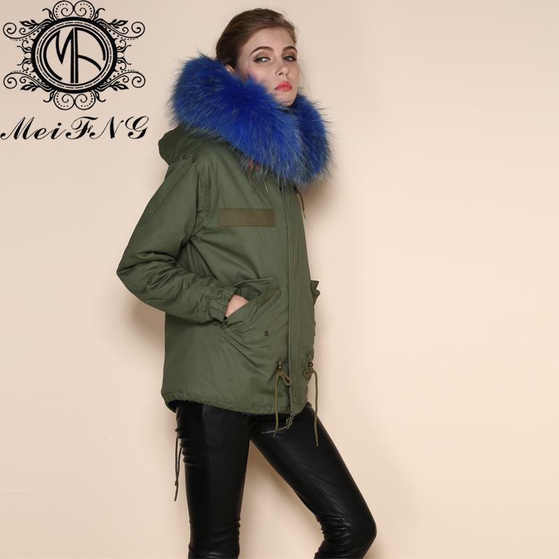 2cd131472d8 Women s Winter Military Style Warm Plus Size Dark Blue Jacket Slim Thick  Coat Hooded 2017 Bodysuit Faux Fur Lined Jackets-in Faux Fur from Women s  Clothing ...