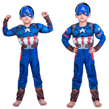Childrens Day American Captains Dress Costume Cosplay Avenger Alliance Show Suit