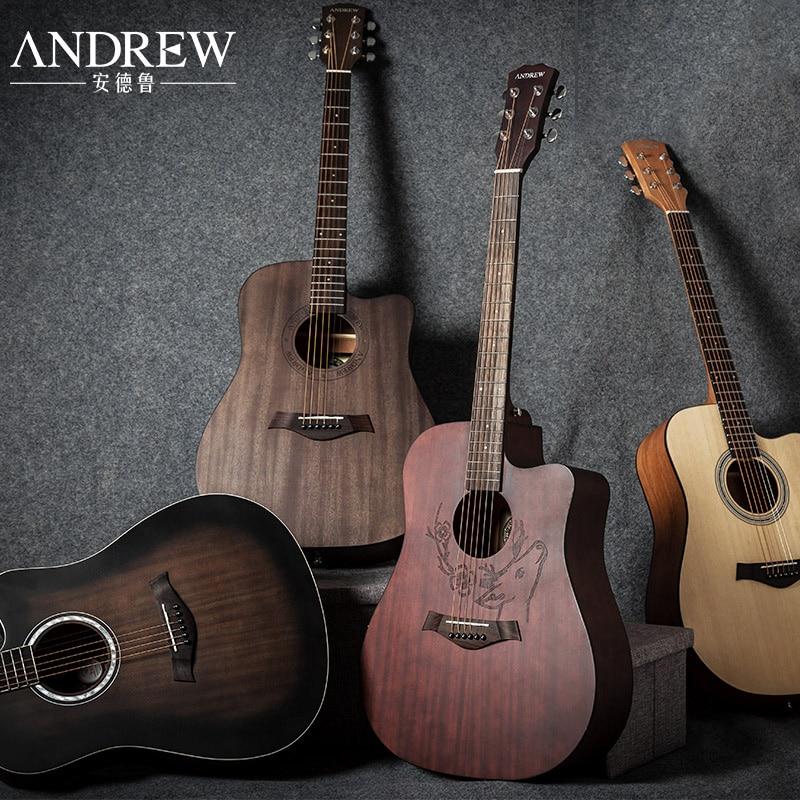 Andrew folk guitare débutant étudiants entrée guitare 40 pouce 41 pouce acoustique guitare garçons et filles boîte électrique instrument de musique