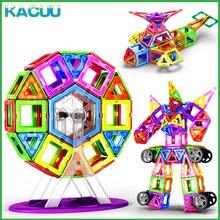 KACUU 19-125PCS Big Size Magnents Building Blocks Constructor Magnetic Designer Building Toys Model Toys For Children