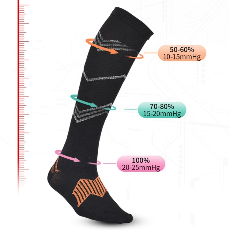 1 Pair Men Women Graduated Compression Socks Moderate Stockings For Running Crossfit Travel Nurse Maternity Pregnancy Recovery