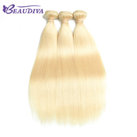BEAUDIVA Straight Hair Human Hair Weave #613 Honey Blonde Straight Human Hair Bundles 8 26inch 613 Blonde Hair 3PCS
