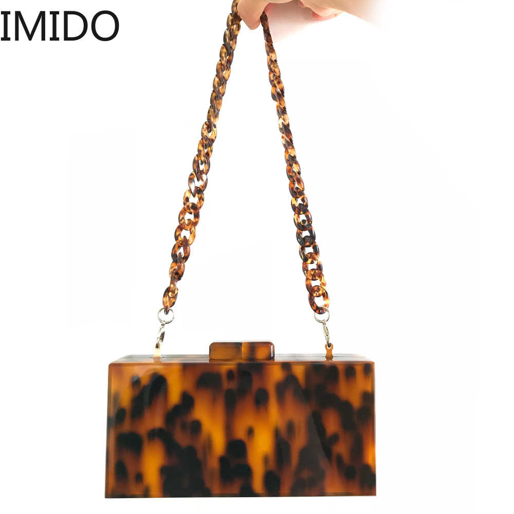 Fashion Design Pattern Leopard Acrílico Garras Saco Concha De Tartaruga Impressão Sacos de Noite Mulheres Saco Messenge Bolsas Partido Senhoras