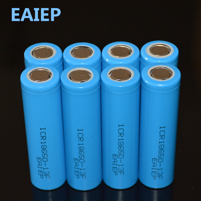 EAIEP <font><b>8</b></font> piece / lot 18650 3.7V 1300mAh rechargeable liion battery for Led flashlight li-ion rechargeable battery image