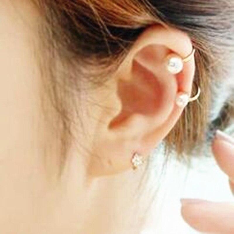 Pearl Ear Clip U - Shaped Clip Without Ear Hole Hidden Earrings    ED73