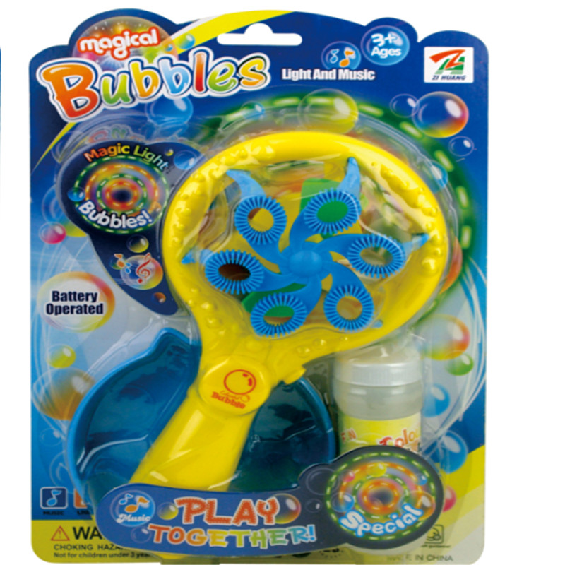 Electric Multi function Automative Light Dimming Music Blowing Bubble Wand Without Bubble Water Toys Gift For Children in Bubbles from Toys Hobbies