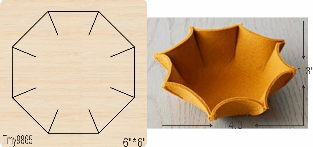 Panier de rangement en bois/outil de découpe/moule de Scrapbook/Tmy9865-in Matrices à découper from Maison & Animalerie    1
