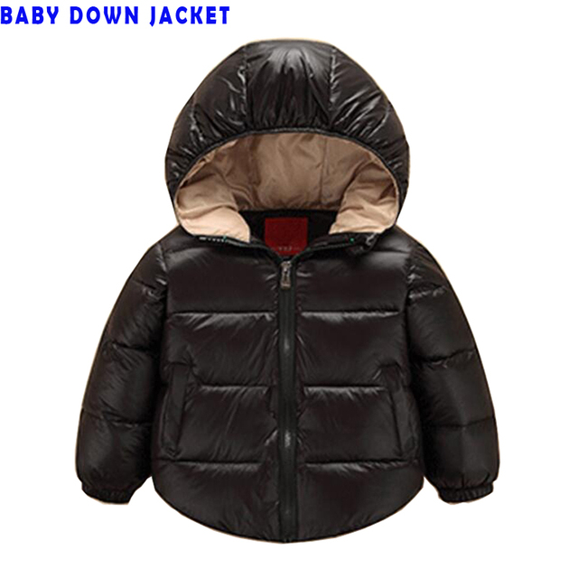 Baby Clothing Fashion Baby Outerwear White Down Jacket 7-24 Months Snow Warm waterproof children's clothing baby down coat