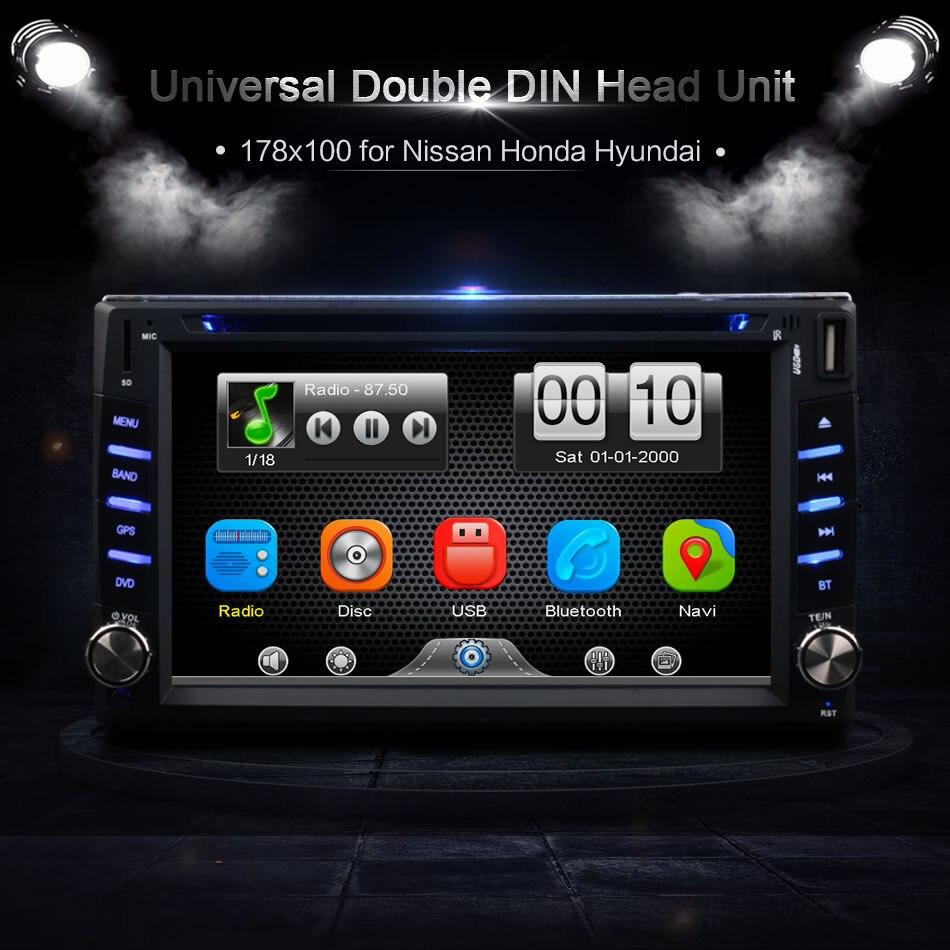 2Din Универсальная автомобильная в тире Сенсорный экран Bluetooth радио CD, DVD MP3 видео Media Player Автомагнитолы центры (без gps)