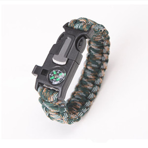 Image 3 - Multi function Military Emergency Survival Paracord 4mm Bracelet Outdoor Scraper Whistle Buckle Paracord Tools 550 Paracord
