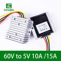 DC DC Converter 60V to 5V 10A 15A Voltage Reducer Converters Step Down Buck Module Power supply for Cars Radio Solar Panel