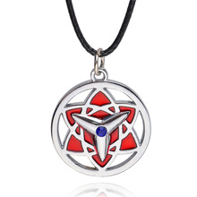 Ocean Fashion Anime Naruto Necklace Itachi Uchiha Sasuke Mangekyou Sharingan Pendant Necklace For Fan Naruto Cosplay jewelry