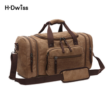 Vintage Canvas Men Women Luggage Travel Bags Duffel Duffle Bag Carry on Hand Luggage Trolley Bag Packing Cubes High Quality