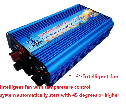 rated power 2500W pure sine wave inverter dc12v to ac110v 60hz or dc12v to ac220v 50hz peak power up to 5000W inverter
