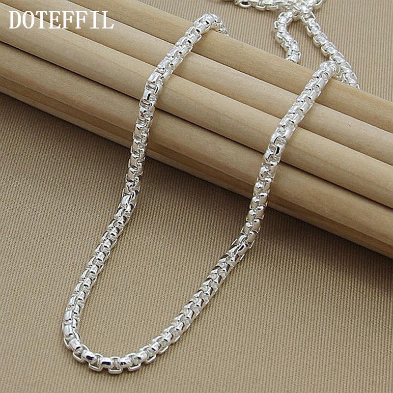 Necklace Chain Silver Necklace 925 Silver Necklace Fashion Sterling Silver Jewelry Link Chain Necklace 6mm thick weave twist cross link chain necklace pure sterling 925 silver jewelry