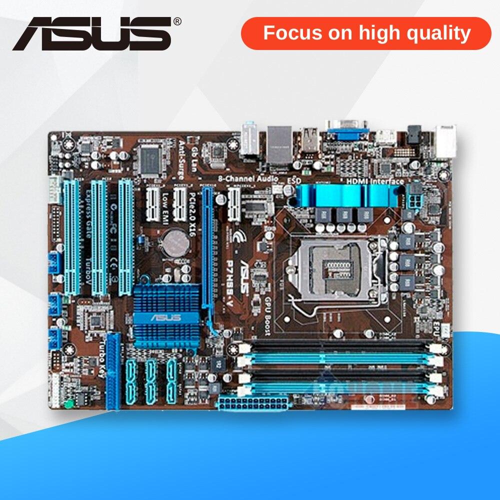 Asus P7H55-V рабочего Материнская плата H55 разъем LGA 1156 i3 i5 i7 E3 DDR3 ATX на продажу