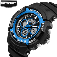 SANDA Digital Watch G Style Mens Fashion Sports Mlilitary Digital Waterproof Clock Outdoors Shock Wristwatches Relojes