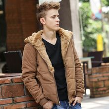 Men's 2016 winter coat plus velvet thick warm coat jacket Slim England men's coat jacket masculine jacket brand clothing WZ237